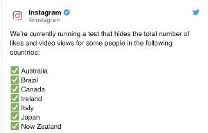 Instagram тестує видалення лайків
